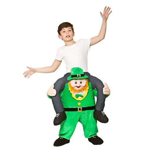 Childrens Carry Me - Leprechaun Costume Unisex St Patricks Day Fancy Dress